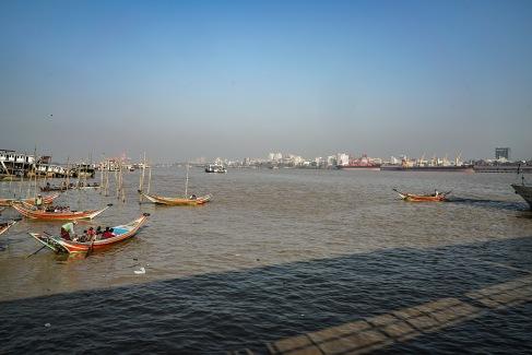 Irrawady river, Yangon, Myanmar.