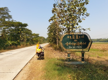 Arriving in Danuphyu, Myanmar.