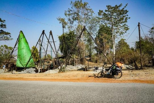 Wild oil fields, Myanmar.