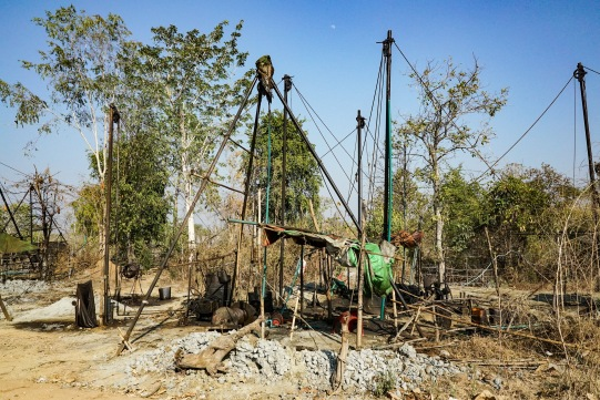 Oil well, Myanmar.