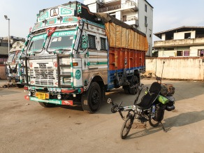 One of the iconic TATA trucks, Imphal, India.