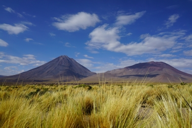 The Licancabur volcano (5916m), from road 27, Chile.