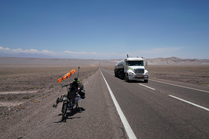 Downhill to San Pedro de Atacama, Chile.