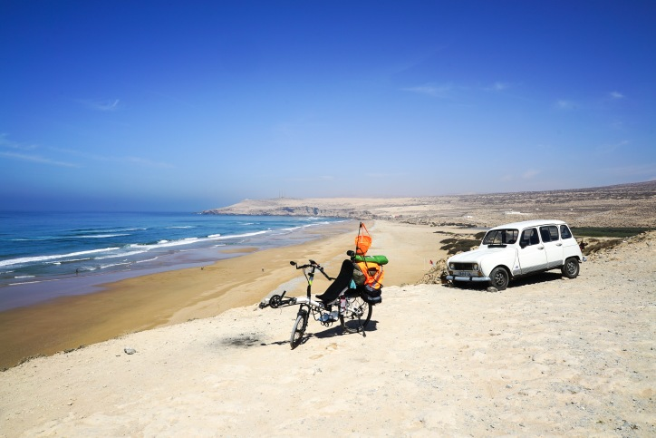 And old Renault 4L. Between Imsouane and Agadir, Morocco.