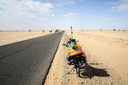 On the way to Nouakchott. Near Akjout, Mauritania.