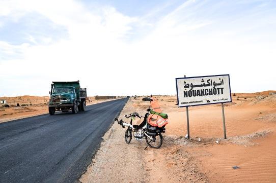 Arriving in Nouakchott, Mauritania.