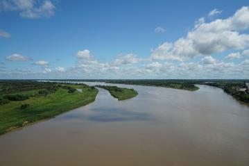 The Rio Paraguay, Concepcion, Paraguay.