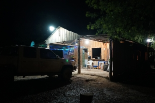 A bar, ideally located between the Paraguayan and Bolivian checkpoints, a good shelter for the night.
