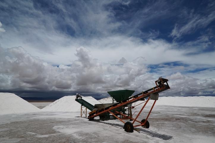 Salt industry, Salinas Grande, Argentina.