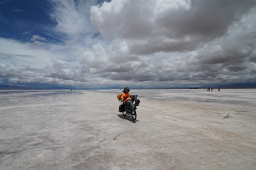 Small ride on the salaar, just for the picture ! Salinas Grande, Argentina.